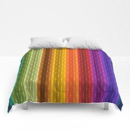 Jewel Tone Color Stripes Comforters