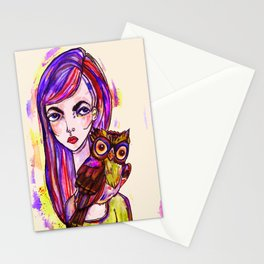 Norah and the Owl Stationery Cards