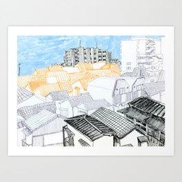 Tokyo landscape Art Print