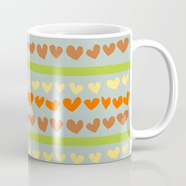 Heart stripe Coffee Mug