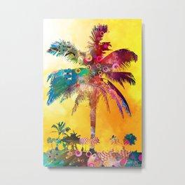 Palm in the Sun Metal Print