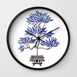Bonsai Tree – Navy Palette Wall Clock