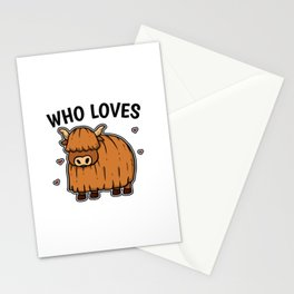 Just A Girl Who Loves Yaks Cute Yak Costume Stationery Cards