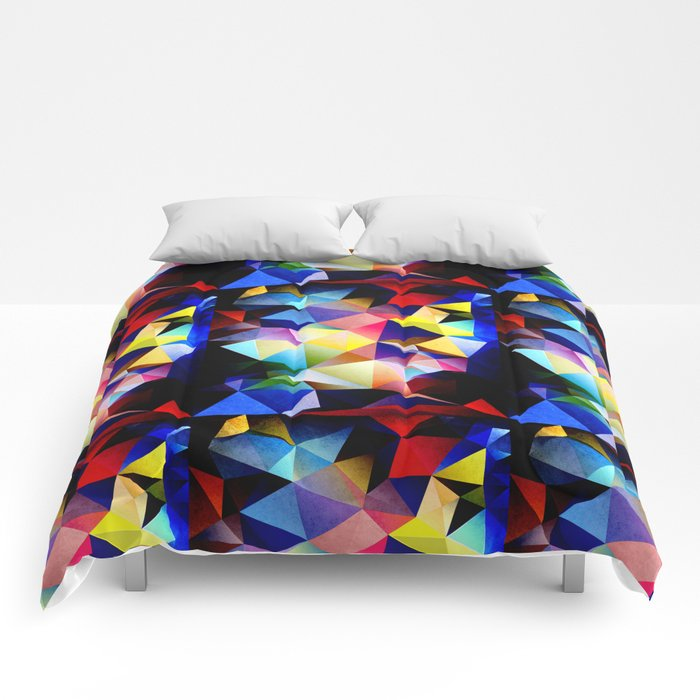 Abstract Triangles And Texture Comforters