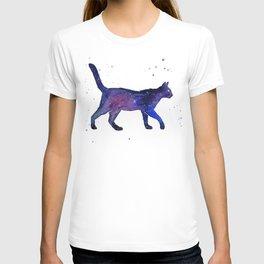 Space Cat Watercolor T-shirt