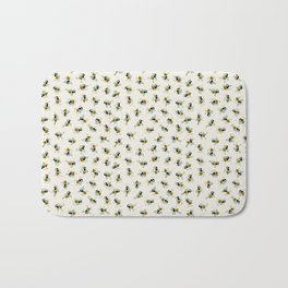 Dancing bee pyjama pattern Bath Mat