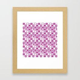 Contraception Pattern (Purple) Framed Art Print