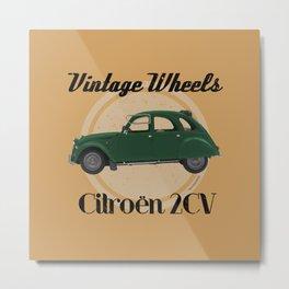 Vintage Wheels - Citroën 2CV Metal Print