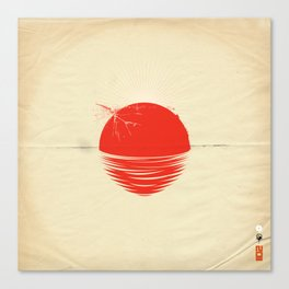 """Japan relief poster/all proceeds will go to """"Peace Winds"""" Canvas Print"""