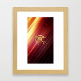 Mars Flame Snipper Framed Art Print