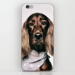 Fashionable spaniel doggo iPhone Skin