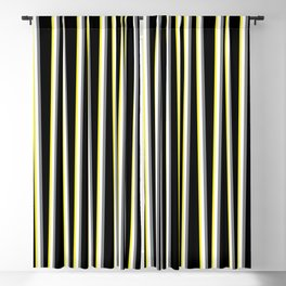 Between the Trees - Black, Grey & Yellow #462 Blackout Curtain