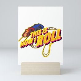 Rollercoaster Roll design - Funny Amusement Theme Park Ride Mini Art Print