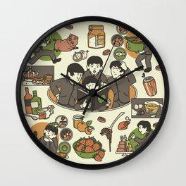 Fab Four Cookbook Wall Clock