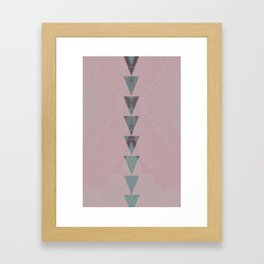 dusty arrows rose Framed Art Print