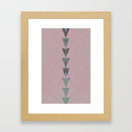 dusty arrows rose Framed Art Print