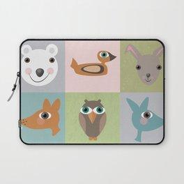 New Wood Animals Blocks Laptop Sleeve