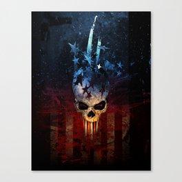 America Skull Canvas Print