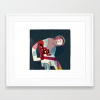 pain Framed Art Prints featuring Pain by Keith Negley
