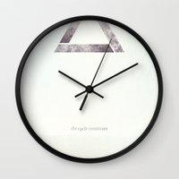 cycle Wall Clocks featuring Cycle by beardasaurus