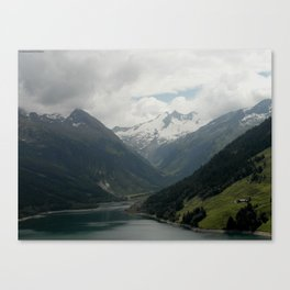 A Fjord in the Alps Canvas Print