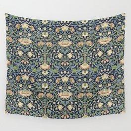 William Morris Vintage Lodden Indigo Blue Mineral Wall Tapestry