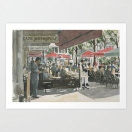 Café Metropole Art Print