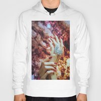 hands Hoodies featuring Hands by John Turck