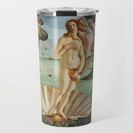 The Birth of Venus by Sandro Botticelli, 1445 Travel Mug
