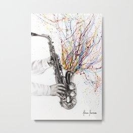 The Jazz Saxophone Metal Print