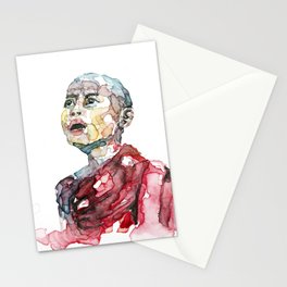 Monk portrait Stationery Cards