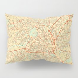 Lille Map Retro Pillow Sham