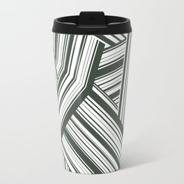 Abstract Crossing Stripes Pattern Travel Mug