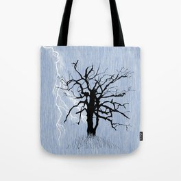 Gnarled Tree and Lightning Tote Bag