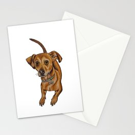Maxwell the dog Stationery Cards