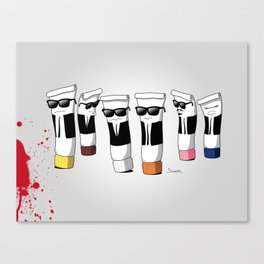 Reservoir Colours (with blood and light colored t-shirts) Canvas Print