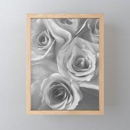 Roses in Black and White Framed Mini Art Print