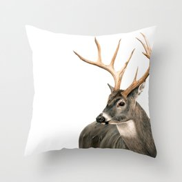 White-Tailed Buck Throw Pillow