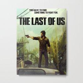 The Last of Us Joel Action Figure Metal Print