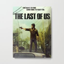 The Last of Us Joel Action Figure Metal Print