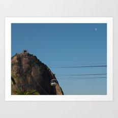 Traveling to Sugarloaf mountain Art Print