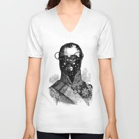 bdsm V-neck T-shirts featuring BDSM XXVII by DIVIDUS
