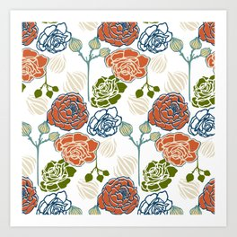 Gardenia Light Art Print