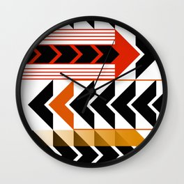 Colourful Arrows Graphic Art Design Wall Clock