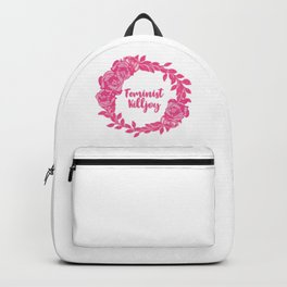 Feminist Killjoy with Beautiful Pink Florals Backpack