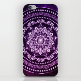 Purple Glowing Soul Mandala iPhone Skin