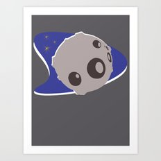 Moon Girl Logo Art Print