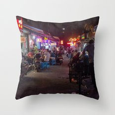 Shanghai Streets Throw Pillow