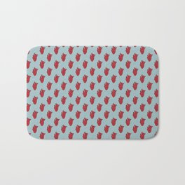My Heart Beats for You - Blue Bath Mat
