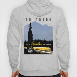 Union Pacific Train poster 1936 - Retouched Version Hoody
